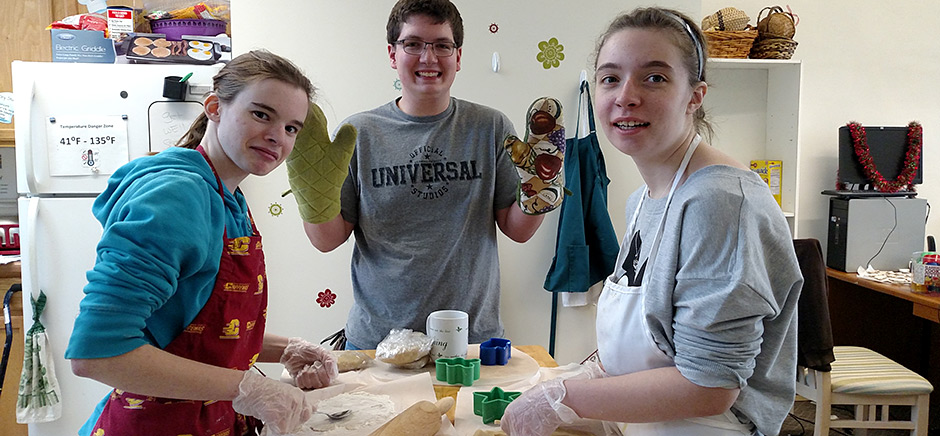 Young Adults Baking Cookies
