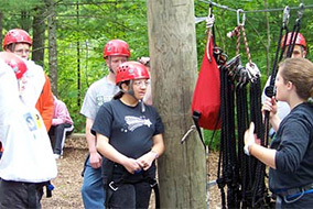 People on Ropes Course