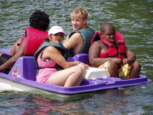 Campers on Paddle Boat