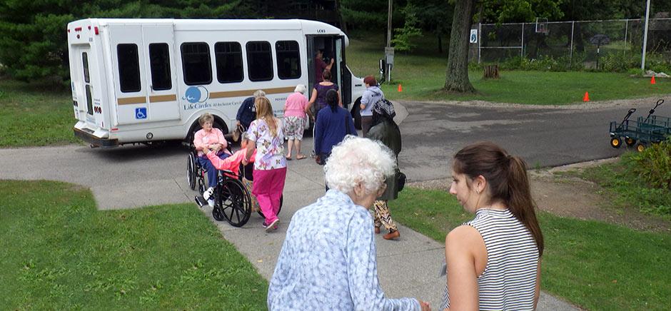 Seniors Boarding Bus