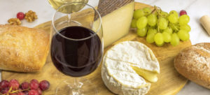 Refreshments of Wine and Cheese